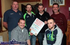 At Hughes' Bar for the launch of Movember 2014 were front: Brian O'Shea (left) and John Brosnan. Back from left: Eddie Mannix, Colin Poolman, Jason Griffin and Joe O'Connor. ©Photograph: John Reidy 13-11-2014