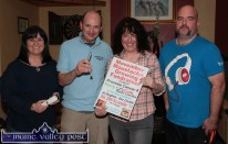 Organisers of Movember 2014 pictured at the launch at Hughes' Bar : Catheriona O'Connell (left) is pictured with: Eoin Brennan, Siobhán McCrohan and grower, Ted O'Connor. ©Photograph: John Reidy 13-11-2014