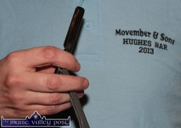 A survivor of last year's campaign at the launch at Hughes' Bar. ©Photograph: john Reidy 13-11-2014