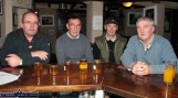 Sliabh Luachra Bee-Keepers Club members at their monthly meeting at Browne's Bar included from left: Christy Carmody, Lyreacrompane, chairman; Billy O'Rourke, Castleisland, secretary; Timmy Doyle and Seamus Quinlan, Knocknagoshel. ©Photograph: John Reidy