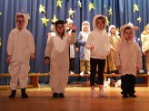 Aiden, Evelina, Teagan and Oisín are the Four Happy Sheep from Senior Infants.