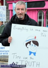 Brian McCarthy, Killarney was one of the organisers of the Castleisland Right2Water parade on Saturday afternoon. ©Photograph: John Reidy