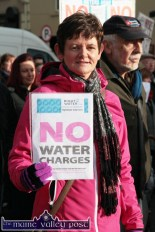 Patricia Casey from Tralee pictured at the Right2Water protest march in Castleisland on Saturday afternoon. ©Photograph: John Reidy
