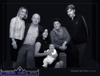 Anne and David Prendiville pictured with family members Julie (left) Maggie with Baby Sonny and Shay. The photograph was taken on the occasion of Sonny's christening. ©Photograph: John Reidy 6-12-2014