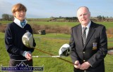 A historic day as newly elected captains: Catherine Horan and Domhnall de Barra prepare to drive in to launch Castleisland Members' Golf Club on Sunday morning. ©Photograph: John Reidy