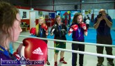 Munster medal holders: Ava Fitzmaurice, Katelyn Horan and Danielle O'Neill back in the Sliabh Luachra Boxing Club gym on Thursday night. ©Photograph: John Reidy