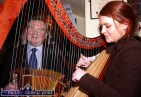 Abbeyfeale musicians, Dan Murphy and Suzanne Quille playing a tune at the unveiling of the programme of events for the 2006 Fleadh by the Feale at Jack's Bar in Abbeyfeale. ©Photograph: John Reidy 05/04/2006