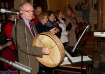 Musical director, Michael O'Shea with members of the St. John's Parish Choir at the Church of Saints Stephen & John for the Good Friday Dramatisation of the Passion and Death of Christ by the Tralee based St. John's Parish Actors and Choir. ©Photograph: John Reidy 3-4-2015