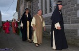 A procession of actors before the performance at the at the Church of Saints Stephen & John for the Good Friday Dramatisation of the Passion and Death of Christ by the Tralee based St. John's Parish Actors and Choir. ©Photograph: John Reidy 3-4-2015