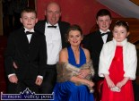 John and Margaret Kerins, Scartaglin pictured with their children: Alan, Conor and Katie at the Kerry County Hunt Ball at the River Island Hotel, Castleisland. ©Photograph: John Reidy