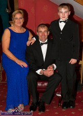 Mary, Mike and Patrick Fitzgerald, Scartaglin pictured at the Kerry County Hunt Ball at the River Island Hotel. ©Photograph: John Reidy