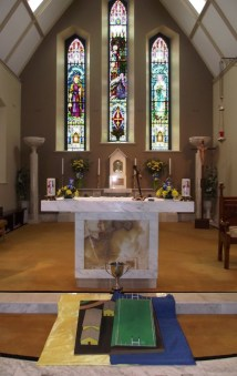 The Church of the Immaculate Conception in Cordal prepared for 9.30am Mass for Sunday 7th June. Members of the local GAA club will take part in honour of the reopening of the local GAA pitch. Photograph: Nora Fealey