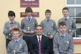 Student of the year Awards. Front from left: Garry O'Sullivan, Currow; Denis O'Donovan, principal and David Lynch, Castleisland. Back from left: Eoin Culloty and Dylan Browne, Castleisland; Donncha Daly, Scartaglin and Sean Walsh, Cordal.