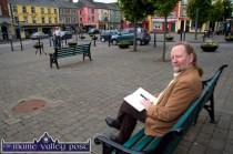 Tralee publisher and writer Noel King enjoying the final hours of the 2013 Listowel Writers' Week on The Square on Sunday evening. Photograph: John Reidy 2-6-2013