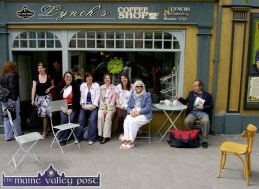 Relaxing during the 2009 Writers' Week in Listowel were: Helen Broderick, Kilmorna; Dee Keogh, Ballybunion; Frances Lavery and Mary Lavery-Carrig, Tarbert; Marian Relihan, Lisselton and James Kelly, Ballylongford. ©Photograph: John Reidy 29-5-2009