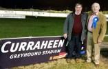 Dan Breen (left) with Midtown Raffa co-owner, David 'Dauber' Prendiville at Curaheen Greyhound Stadium in Cork on Saturday night.