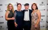 Event guest, Michael Healy Rae, TD pictured with: Elaine Kinsella (left) Margaret Brick, Connect Kerry and Caroline McEnery at the Connect Kerry / Lee Strand Women in Business Awards at the Ballyroe Heights Hotel on Friday night. www.leephotography.ie