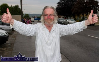 Former, Knockatee resident, Richard Gallagher re-visited to take part in the annual Humphrey Murphy Memorial Road Race on Limerick Road, Castleisland on Friday evening ©Photograph: John Reidy
