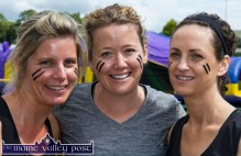 Sandra Geaney, Tralee (left) pictured with Caroline Corridan, Ballyheigue and Marguerite Moynihan, Tralee ready to take on HercOileán - The Island Warrior Challenge at An Riocht AC in Castleisland on Saturday morning. ©Photograph: John Reidy