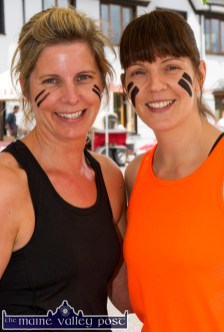 The Geaney sisters, Sandra and Aisling pose for a quick picture before heading off to join their wave at the start of HercOileán - The Island Warrior Challenge at An Riocht AC in Castleisland on Saturday morning. ©Photograph: John Reidy