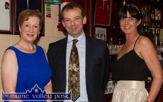 Hospice branch Chairman, Jack Shanahan pictured with Noreen O'Callaghan (left) and Liz Galwey at the revived Hospice Ball at The Crageens on Friday night. ©Photograph: John Reidy