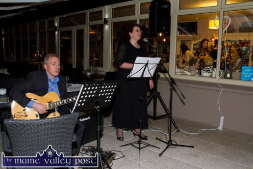 Welcoming Magic from Thomas O'Shea, Listowel and Bríd Mills, Castleisland at Nana Bea's Resturant and Coffee Shop for the Fashion Capital of Kerry Fashion Show on Thursday night . ©Photograph John Reidy