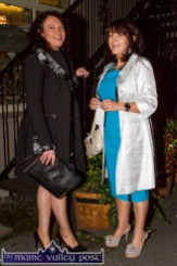 Locals: Teresa Curtin (left) and Noreen Shanahan pictured at the Castleisland Fashion Capital of Kerry show at Nana Bea's Restaurant and Coffee Shop on Thursday night. ©Photograph: John Reidy