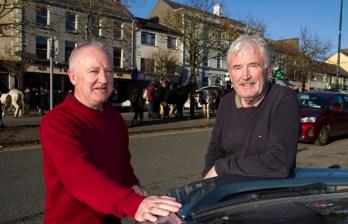 Glountane natives, Jimmy (left) and Neily Jones pictured in Castleisland for the annual November Horse Fair Day. ©Photograph: john Reidy