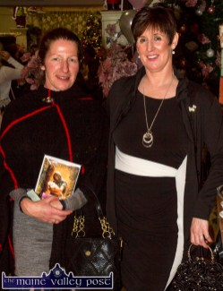Síle Kerley (left) and Mary Fitzgerald pictured at Friday night's Food Fair at Crag Cave in aid of Breast Cancer Ireland. ©Photograph: John Reidy