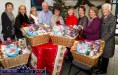 Bank of Ireland Castleisland branch manager, Paddy Garvey pictured with staff and representatives of local charities at the presentation of Christmas Hampers at the bank. Included are from left: Helen Costello, Bank of Ireland; Lisa Geaney, Kerry Parents and Friends; Jane McKenna, Retail Business Insurance Bank of Ireland; Mr. Garvey, Catherine Casey, Bank of Ireland; Rosemary Pender, Society of St. Vincent de Paul; Maeve Neilan, Bank of Ireland and Castleisland Day Care Centre representatives, Marcella Finn, Nurse/Manager and Monica Prendiville, Board of Management. ©Photograph: John Reidy