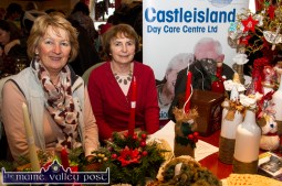 Rita McCarthy (left) and Sheila McGuire at the Castleisland Day Care Centre stand at the Castleisland Christmas Craft Fair at the River Island Hotel on Saturday. © Photograph: John Reidy