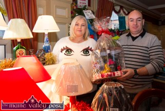 Jennifer and Mossie McGaley, Tralee with their Tipsy Craft Lamps stand at the Castleisland Christmas Craft Fair at the River Island Hotel on Saturday. © Photograph: John Reidy