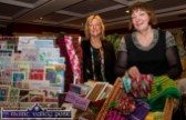 Castleisland hairdresser, Nora Drumm (left) pictured with her Co. Galway based sister, Kathleen Campbell at her card and knitwear styand at the Castleisland Christmas Craft Fair at the River Island Hotel on Saturday. © Photograph: John Reidy
