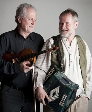 Matt Cranitch (left) and Jackie Daly will feature in 'The Man from Kanturk' at the Handed Down, January 23rd show at Scartaglin Heritage Centre from 8pm sharp.