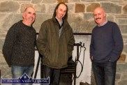 The Handed Down team. PJ Teahan (left) pictured with Mick Culloty and Tomás Mac Uileagóid in Scartaglin. ©Photograph: John Reidy