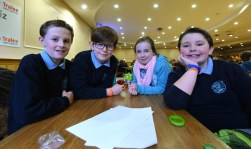 O'Brennan NS Tralee pupils: Diarmuid Galvin ,Phelim Carroll , Sam Maunsfield and Iseult Ni Bhrinin taking part in the took place in the annual Noreen Lynch Credit Union Quiz in the Brandon Hotel Tralee over the weekend. Photo By : Domnick Walsh © Eye Focus LTD ©