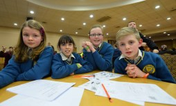Taking part in the Tralee Credit Union Annual Schools Quiz in the Brandon Hotel Tralee were Loughfounder NS Knocknagoshel. Erina Cotter, Kellie Anne Nix, Katelyn Curtin and Eoin McSweeney. Photo By : Domnick Walsh © Eye Focus LTD ©