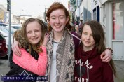Three young ladies enjoying life and the St. Patrick's Day Parade in Castleisland from left: Catherine Cronin, Castleisland; Denise Crowley, Currow and Joanna Browne, Knocknagoshel. ©Photograph: John Reidy