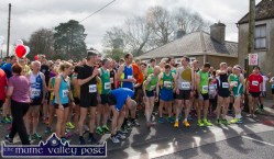 Ready for Road: Some of the estimated 450 athletes and fun runners at the start of the annual An Riocht AC / Lee Strand Kingdom Come 10 Miler and 5K Road Race in Castleisland this morning. ©Photograph: John Reidy