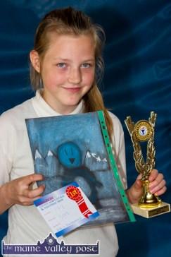 Gabija Kulikausikaite with her winning entry from the Kingdom County Fair art competition. ©Photograph: John Reidy