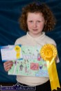 Muireann Hickey with her rosette and certificate from the Kingdom County Fair Art Competition. ©Photograph: John Reidy