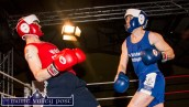 Martin 'Mazza' Moran showing great flexibility during his bout with Ian Geaney.