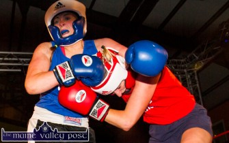 No holds barred in this Currow V Scartaglin bout between Siobhán Fleming and Nuala O'Connor.