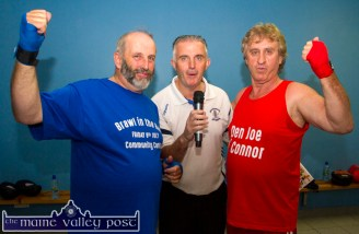 Fight night interviews were conducted by Tom McCarthy as he engages danny Healy Rae, TD and Den Joe O'Connor.