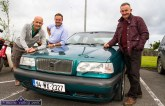 Vintage enthusiasts from Tralee, Tom Shanahan (left) pictured with Matt and Martin O'Regan and their Volvo 850 Turbo T5 before the Kingdom Veteran Vintage & Classic Car Club and Honda Charity Run at Ó Riada's Bar and Restaurant, Ballymacelligott on Friday evening. ©Photograph: John Reidy
