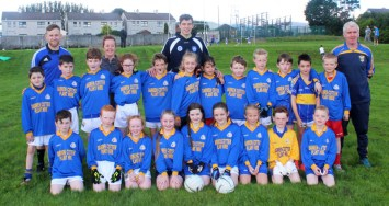 Cordal U-10s at Kerins O'Rahilly's on Saturday with their mentor Maurice Costello and Catriona Dennehy and Kerry players Barry John Keane and David Moran. Thanks to Barry John and David who did a question and answer session with both teams and who refereed half of the match each. The team played very well and did the Cordal jersey proud. Photograph: Danny Kelliher