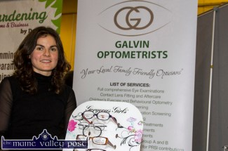 Maria Galvin at her Galvin Optometrists stand at last year's Bank of Ireland Two-day Enterprise Town Expo at Castleisland Community Centre. ©Photograph: John Reidy