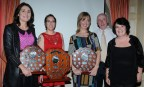 PR Award Winners: Elizabeth Lane, Brosna, Lauren Starky, Milltown; Ann O'Leary, Rathmore; Nelius Colins and Margaret Dineen, Kerry Community Games joint PROs. Photograph: Owen Stack