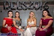 At the Castleisland Community College Debs Ball at the Earl of Desmond Hotel on Friday night were from left: Tamara Horan, Kerrie McCarthy, Labhaoise Walmsley and Marie Fleming. ©Photograph: John Reidy