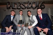 Jack Flynn (left) pictured with: Kieran Enright, Daniel Culloty and Jack Curran at the Castleisland Community College Debs Ball at the Earl of Desmond Hotel on Friday night. ©Photograph: John Reidy